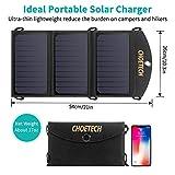 Handy Solar Ladegerät CHOETECH 19W 2-Port USB Wasserschutze Solarpanel Tragbar&Faltbar für iPhone 6S/ 6/6 Plus, Galaxy S7/S7 Edge/S6/S6 Edge, iPad, LG G4 und 5V Mobile Geräte - 5