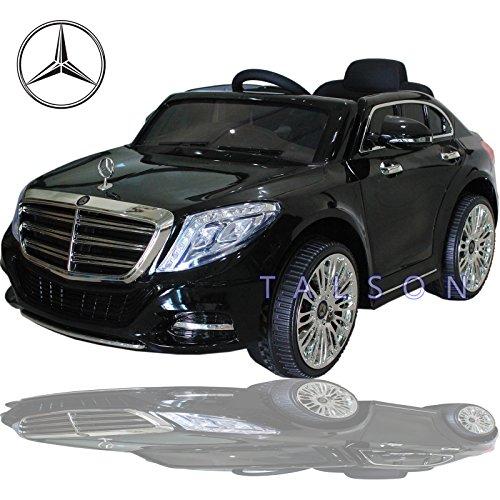 Mercedes Benz S600 Lizenz Fahrzeug Kinder Elektro Auto Cabrio 2x35W Motoren inklusive Fernbedienung Schwarz