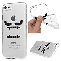 iPhone 7 Case, iPhone 8 Case MAXFE.CO Soft TPU Gel Cover Flexible Case Transparent Clear Shock-Absorption Protective Rubber Shell Ultra-Thin Silicone Case for iPhone 7/ 8 - Ferocious Expression