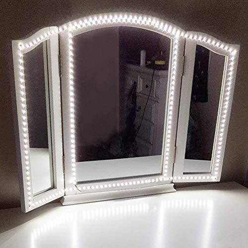 Led Spiegelleuchte,Led Eitelkeits Licht Streifen 4M/13Ft 6000K Tageslicht Dimmbar für Schminkspiegel.Make-up Licht,Schminklicht,Spiegel Nicht Inbegriffen