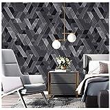 Nordisch Tapete Vlies Modern Quadrat Gitter Zum Wohnzimmer Schlafzimmer Fernseher Hintergrundwand 0,53 · 10 M/Rolle (Farbe : A)