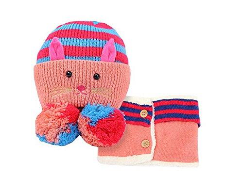 Baby-Hut/Kappe und Schal Nützliche nette Woll Baby Hat Set ()