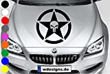 wDesigns Autoaufkleber The Punisher Totenkopf Stern Star Skull Aufkleber Motorhaube