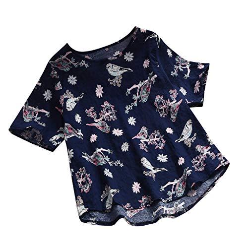 Axong_chemisier T-Shirt à Manches Courtes pour Femmes, ajouré Sexy en Dentelle Conception Unique de la Mode Top