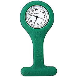 Ravel Green Silicone Nurses Fob Watch R1103.11 (Infection Control)