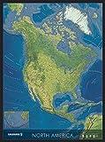 Map Line COLUMBUS Nord-Amerika Wandkarte: Politisch/physisch