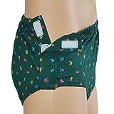 Sharplace Herren Männer Inkontinenzslip Boxershorts Unterhose mit Klettverschluss bequem atmungsaktiv waschbar (Grün) - XL