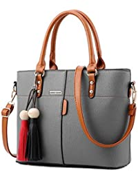 Womens PU Tot Bags, oteawe Women Purses and Handbags Casual Crossbody Shoulder