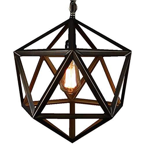 Schlafzimmer Loft (Hwamart TM HL416 amerikanischen Vintage-Loft Pendelleuchten Nordico rustikalen Käfig Edison hanglamp Eisen Lampenschirm Dekor Lampenbefestigungen E27 Schlafzimmer)