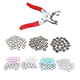 100 piezas x 9.5mm Snap Broches a presión Broches - de color Prong Anillo prensa tachuelas para Peleles, baberos, a medida Ropa o bricolaje proyectos de Trimming Shop (4 Colours)