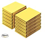 URBAN MEDICAL Premium Rettungsdecke Extra Große Rettungsfolie für Erste Hilfe | 10 Stück | Gold/Silber | 210 x 160 cm |Wasserdichte Notfalldecke | Kälteschutz | Hitzeschutz | Autozubehör |
