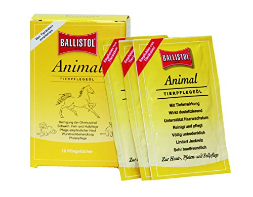 katzeninfo24.de Ballistol Tierpflege Animal Tücher Box à 10 Stück, 26590