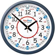 EasyRead Time Teacher 12 & 24 hr Classroom Wall Clock, 35 cm