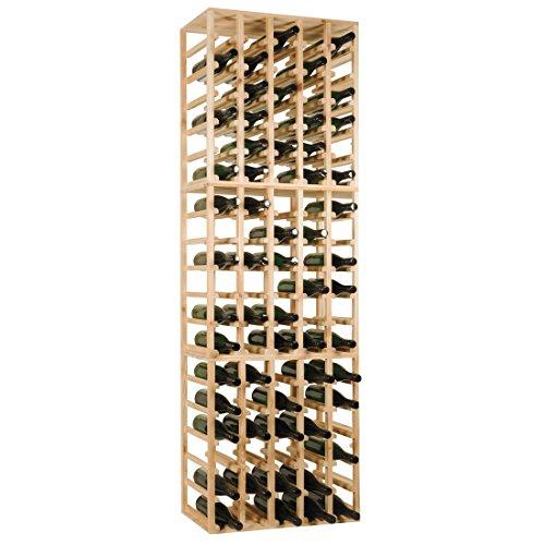 Weinregal / Flaschenregal QUADRI - 3er Set für 90 Fl. Holz, Fichte Maße: 62 x 60 x 30 cm