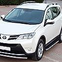 Trittbretter für Toyota RAV-4 ab Bj 13 mit TÜV/ABE Bescheinigung (aus Aluminium) | Sidestep Seitenschweller Trittleisten