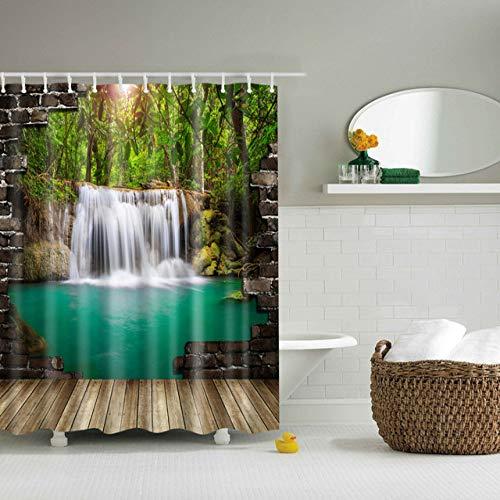 xkjymx Tarot-Wandteppich-Reiseschlafmatte großes waldgrünes Duschvorhang-Bambuswäsche-Badezimmer