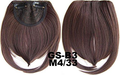 # 4 _ 33 m 100% fibre synthétique haute température Clip dans/sur cheveux avant frange frange cheveux