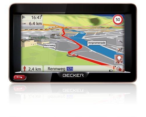Becker Ready 50 EU 19 Navigationsgerät (12,7 cm (5\'\') Bildschirm, 19 Länder Europas, HQ TMC, Text-to-Speech, Becker SituationScan) schwarz/mokka-metallic