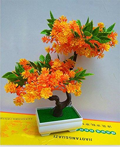 artificial Bonsái Bonsai sintético decorativo Artificial flor de la planta con Potted Decoración tabla sala estar afortunada Feng Shui Decorativa árboles floración , #36