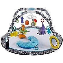 Fisher-Price DFP71 Jonathan Adler Spieldecke Krabbeldecke mit Mobile Spielkissen und 9 Spielzeugen Babyerstausstattung, ab 0 Monaten