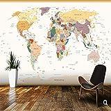 Liwenjun Fondo De Pantalla De Niños, Colores del Mapa Político del Mundo Retro, Sala De Niños En 3D Sala De Estar Vinilo Papel Pintado Mural De Dibujos Animados