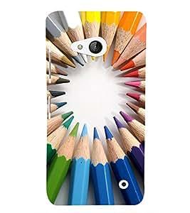 EPICCASE color pencils Mobile Back Case Cover For Microsoft Lumia 550 (Designer Case)