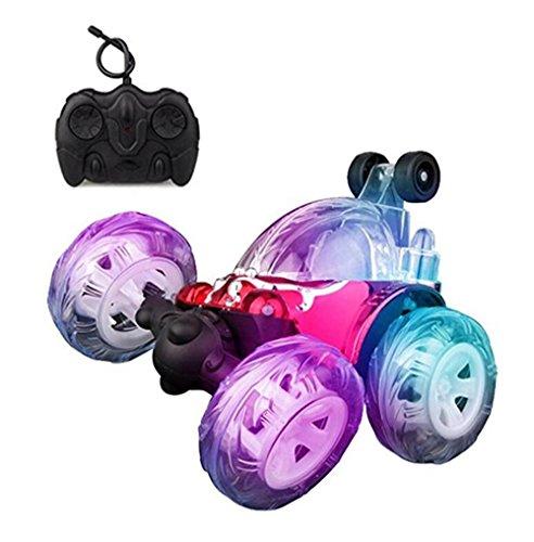 Jouets de voiture Enfants Télécommande Radio 360 Degrés Voiture avec Lumières Clignotantes et Musique