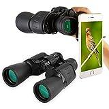 Fiturbo x Bijia F1050 BAK4 HD haltbar tragbar 10x50 Fernglas, wasserdicht Ferngläser mit Porroprisma, für Vogelbeobachtung, Sightseeing, Jagd, Outdoor-Sport, mit Handy-Adapter