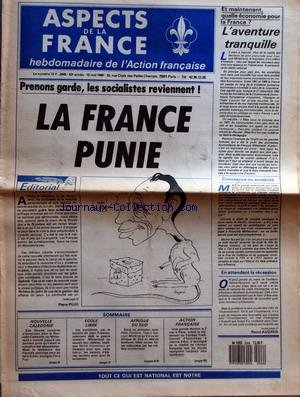 ASPECTS DE LA FRANCE [No 2046] du 12/05/1988 - PRE...