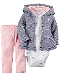 5aed204b5e3 ARAUS Baby Long Sleeve Hoodie + Bodysuit + Pants Trousers Newborn Girl Boy  Autumn Winter Clothes