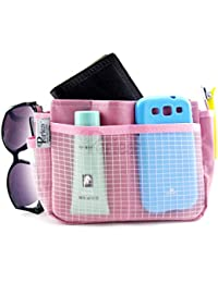 Periea Make-up/Cosmetic Organiser, Insert, Liner 9 Pockets - Pink - Ruby