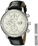 Jacques Lemans Unisex-Armbanduhr Nostalgie Chronograph Automatik Leder N-208A