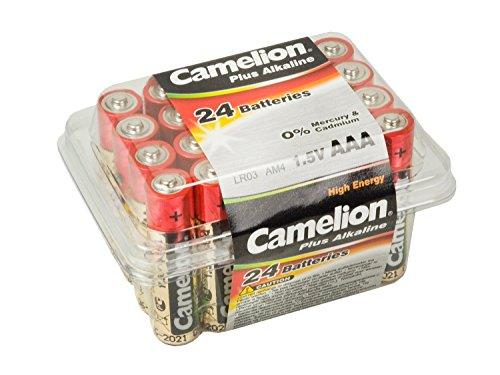 Camelion 11102403 Plus Alkaline Batterie LR03, Micro, AAA, 24er-Pack