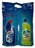 #5: Lizol Disinfectant Surface Cleaner + Harpic Toilet Cleaner - Citrus + Power Plus, 500ml Combo Pack