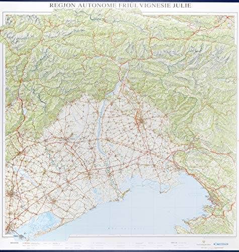 Cjarte dal Friûl murale 1:150.000. Con l'indice dei nomi (Carta stradale Friuli Venezia Giulia)