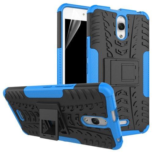 betterfon   Outdoor Handy Tasche Hybrid Case Schutz Hülle Panzer TPU Silikon Hard Cover Bumper für Alcatel Pixi 4 (6 Zoll) Blau