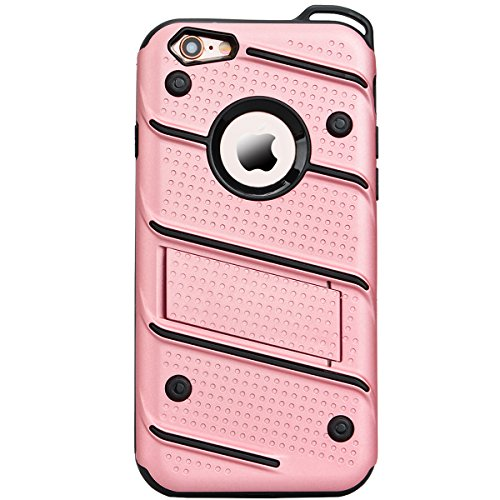 Coque iPhone 5S, HB-Int 3 en 1 Coque iPhone SE / 5S / 5 Housse Etui [Tough Armor] Ultra Fine Arrière Housse TPU Silicone Case Cover + [Protection Extreme] Rugged Slim Dual Layer Protective PC Housse E Or