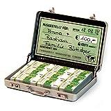 Chroma Products Geldkoffer als Geldgeschenk oder für Gutscheine - Mini Aktenkoffer aus Aluminium mit Schnappverschluss, Geldstapel und Grußkarte - Ideal Auch für Hochzeitsgeschenke