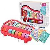 Baby- und Kleinkindspielzeug Red Plastic Xylophone Kinder Musikinstrument Spielzeug Acht-Ton-Handschlag-Klavier