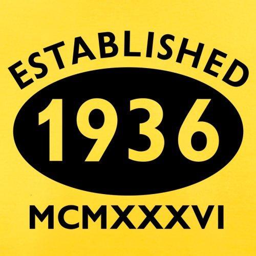 Gegründet 1936 Römische Ziffern - 81 Geburtstag - Herren T-Shirt - 13 Farben Gelb