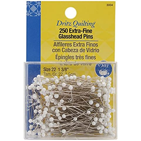 Dritz Various Quilting Extra Fine Glass Head Pins-Size 22 250/Pkg