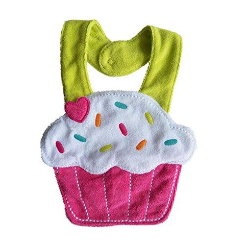 saliva impermeabile bambino, FEITONG cartone animato bavaglini Bib asciugamano animale (torta)