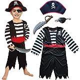 Kinder Piraten Jungen Kostüm mit Hut, Schwert,...