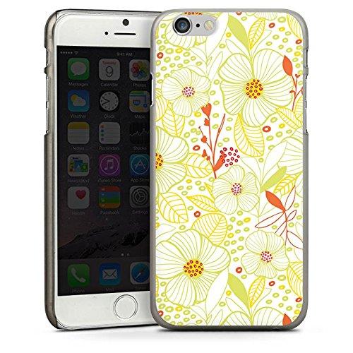 Apple iPhone 4 Housse Étui Silicone Coque Protection Fleur Été Printemps CasDur anthracite clair