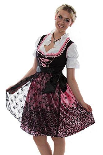 d77632da81fa29 Bavarian Clothes Dirndl Trachtenkleid Kleid Dirndl Trachtenkleid Kleid  Oktoberfest 3Tlg. mit Dirndlbluse Schürze Gr: 40 Dirndl mit Spitze rosa  schwarz ...