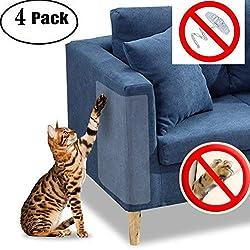 """Protector de muebles Cat Scratch Guard - Cuatro protectores por paquete - (18.5 """"L x 5.9"""" W) - Mejor protección contra arañazos de mascotas - ¡Ame sus muebles y su gato!"""