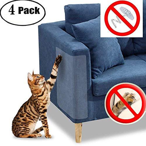 ¿Tu mascota sigue arañando la tapicería de tu sofá? Protege tu tapicería de piel y tela de tu sofá con el juego de 4 protectores de muebles para gatos y perros. Estas fundas transparentes para gatos protegerán y protegerán tus muebles de las garras a...