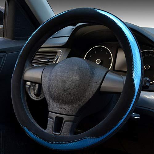 Car steering wheel cover Carbon Fiber Leder Auto Lenkradabdeckung Vier Jahreszeiten Universal Lenkradabdeckung,2