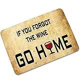 Knbob Vorleger Eingang Wenn Sie Den Wein Vergessen Haben, Gehen Sie Nach Hause Stil 1 Duschmatten Eckdusche 70X45Cm