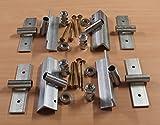 1 Stück Pitzl® Schornsteinhalter Bausatz massiv 6 mm Stahl Sparrenhalter für Schornstein Kaminhalter